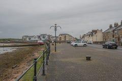Λιμενική οδός Irvine στο Ayrshire Σκωτία που κοιτάζει μέσα προς το πόλης κέντρο στοκ φωτογραφίες με δικαίωμα ελεύθερης χρήσης