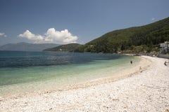 Λιμενική παραλία της Sami Cephalonia Kefelonia, Ελλάδα Στοκ Εικόνες