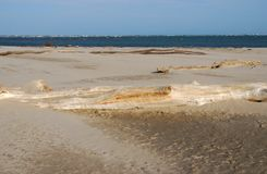 Λιμενική παραλία Caleri κοντά στη φοράδα Ρόβιγκο Ιταλία Rosolina Στοκ εικόνα με δικαίωμα ελεύθερης χρήσης