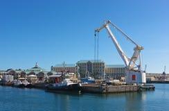 λιμενική πόλη ακρωτηρίων Στοκ φωτογραφία με δικαίωμα ελεύθερης χρήσης