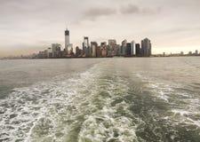 Λιμενική όψη πόλεων της Νέας Υόρκης Στοκ Εικόνα