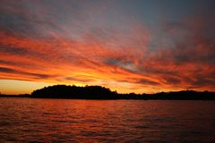 λιμενικό ηλιοβασίλεμα Σύδνεϋ Στοκ Εικόνα