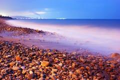 λιμενικό ηλιοβασίλεμα Τ& Στοκ εικόνα με δικαίωμα ελεύθερης χρήσης