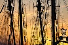 λιμενικό ηλιοβασίλεμα Στοκ Εικόνα