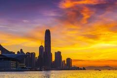 Λιμενικό ηλιοβασίλεμα Χονγκ Κονγκ Στοκ φωτογραφία με δικαίωμα ελεύθερης χρήσης