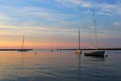 Λιμενικό ηλιοβασίλεμα Sesuit Στοκ Εικόνες
