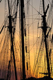λιμενικό λυκόφως Στοκ φωτογραφίες με δικαίωμα ελεύθερης χρήσης