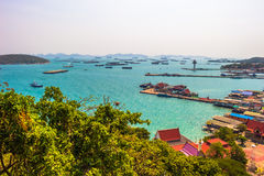 Λιμενικό νησί Si chang Ταϊλάνδη νησιών θάλασσας Στοκ Εικόνες