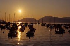 λιμενικό lerici πέρα από το ηλιο&be Στοκ εικόνα με δικαίωμα ελεύθερης χρήσης