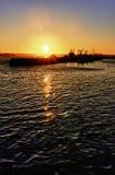 λιμενικό SAN ηλιοβασίλεμα &t Στοκ Φωτογραφία
