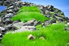 Λιμενοβραχίονας βράχου στο ακρωτήριο Charles Στοκ Εικόνες