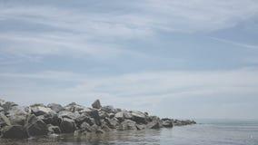 Λιμενοβραχίονας βράχου απόθεμα βίντεο