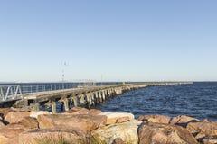 Λιμενοβραχίονας βυτιοφόρων στον ωκεανό Στοκ εικόνες με δικαίωμα ελεύθερης χρήσης