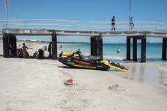 Λιμενοβραχίονας και εξοπλισμός Lifeguard Στοκ Φωτογραφία