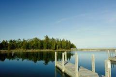 Λιμενοβραχίονας στη λίμνη Huron Στοκ Φωτογραφίες