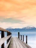 Λιμενοβραχίονας στο chiemsee λιμνών (82) Στοκ Φωτογραφία
