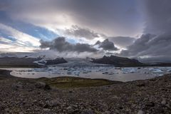 Λιμνοθάλασσα παγετώνων Fjallsà ¡ rlà ³ ν στοκ εικόνες