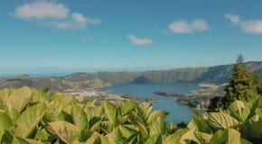 Λιμνοθάλασσα των επτά πόλεων, Αζόρες στοκ φωτογραφία με δικαίωμα ελεύθερης χρήσης