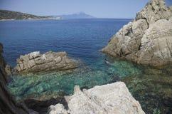 Λιμνοθάλασσα Athos Ελλάδα θάλασσας Στοκ Φωτογραφία