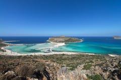 Λιμνοθάλασσα Balos, μια παραλία παραδείσου με το κρύσταλλο - καθαρίστε το νερό και την άσπρη άμμο στο νησί της Κρήτης, Ελλάδα στοκ εικόνες με δικαίωμα ελεύθερης χρήσης
