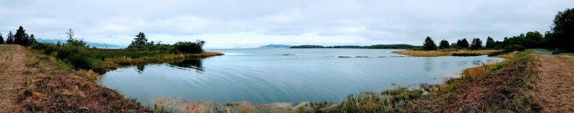 Λιμνοθάλασσα από το ίχνος προκυμαιών Warrenton στοκ φωτογραφία με δικαίωμα ελεύθερης χρήσης