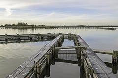 Λιμνοθάλασσα κοιλάδων Comacchio Στοκ Φωτογραφία