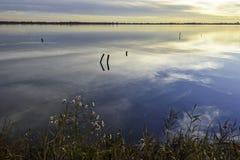 Λιμνοθάλασσα κοιλάδων Comacchio Στοκ Φωτογραφίες