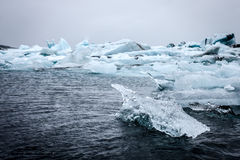 Λιμνοθάλασσα παγετώνων στην Ισλανδία Στοκ Φωτογραφίες