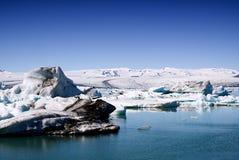 Λιμνοθάλασσα παγετώνων στοκ φωτογραφία