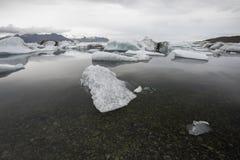 Λιμνοθάλασσα παγετώνων Jokulsarlon, Ισλανδία Στοκ Εικόνες