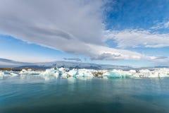Λιμνοθάλασσα παγετώνων Jokulsarlon, Ισλανδία Στοκ Φωτογραφίες