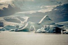 Λιμνοθάλασσα παγετώνων Jokulsarlon στο εθνικό πάρκο Vatnajokull, Ισλανδία Στοκ φωτογραφία με δικαίωμα ελεύθερης χρήσης