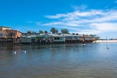 Λιμνοθάλασσα σε Capitola, Καλιφόρνια Στοκ εικόνες με δικαίωμα ελεύθερης χρήσης