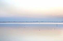 Λιμνοθάλασσα στην ανατολή Στοκ Εικόνες