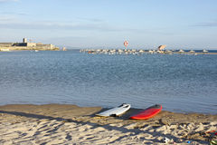 Λιμνοθάλασσα στην παραλία carcavelos Στοκ Φωτογραφία