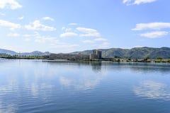 Λιμνοθάλασσα στη archeological περιοχή Butrint, Αλβανία Στοκ φωτογραφία με δικαίωμα ελεύθερης χρήσης