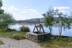 Λιμνοθάλασσα στη archeological περιοχή Butrint, Αλβανία Στοκ εικόνα με δικαίωμα ελεύθερης χρήσης