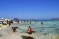 Λιμνοθάλασσα Balos στην Κρήτη (Ελλάδα). Στοκ Φωτογραφίες