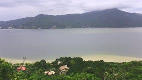 Λιμνοθάλασσα Conceicao σε Florianopolis, Βραζιλία απόθεμα βίντεο