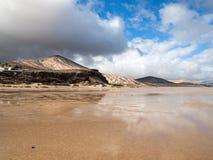 Λιμνοθάλασσα Risco Ελ Πάσο Playas de Sotavento, Fuerteventura Στοκ Εικόνες