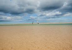 Λιμνοθάλασσα Risco Ελ Πάσο Playas de Sotavento, Fuerteventura Στοκ εικόνα με δικαίωμα ελεύθερης χρήσης