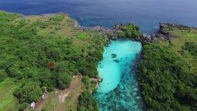 Λιμνοθάλασσα Weekuri, νησί Sumba, Ινδονησία απόθεμα βίντεο