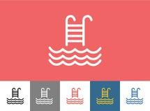 Λιμνών εικονίδιο που απομονώνεται διανυσματικό Κύματα, καλοκαίρι ή σκαλοπάτια απεικόνιση αποθεμάτων