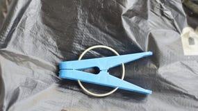 Λινό clothespin στοκ εικόνα