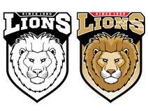 Λιοντάρια μασκότ διανυσματική απεικόνιση