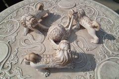 Λιοντάρια νεφριτών στοκ εικόνα με δικαίωμα ελεύθερης χρήσης