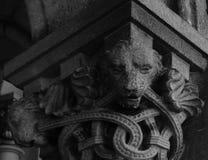 Λιοντάρια στο κεφάλαιο Στοκ φωτογραφία με δικαίωμα ελεύθερης χρήσης