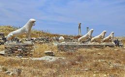 Λιοντάρια Naxians Delos Στοκ Φωτογραφία