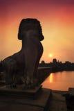Λιοντάρι & ανατολή Angkor Στοκ φωτογραφία με δικαίωμα ελεύθερης χρήσης