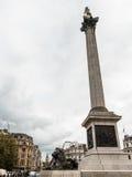 Λιοντάρι και Big Ben πλατειών Τραφάλγκαρ του Λονδίνου Στοκ φωτογραφία με δικαίωμα ελεύθερης χρήσης
